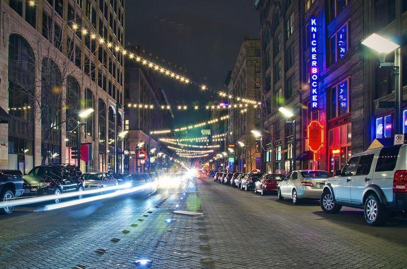 Washington avenue at night