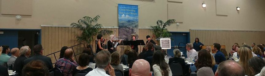 Performing for the San Luis Obispo Chamber of Commerce