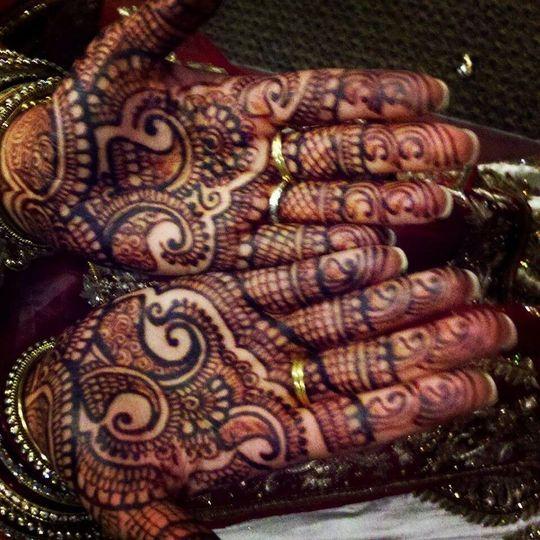 Bridal henna mehendi