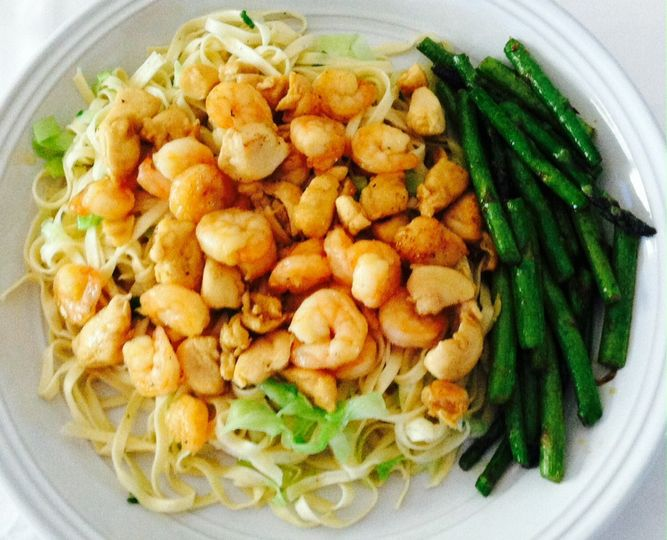 Sauteed Shrimp or Chicken (can add both)  Shrimp or Chicken, Sauteed with either Mushrooms or...