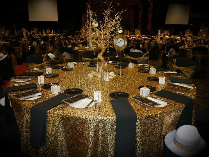Gold-detailed gala