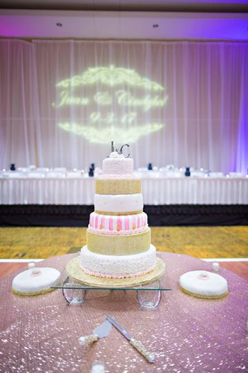 920 Events provided full wall draping - floor to ceiling, chair covers, sequin sash bands, full...