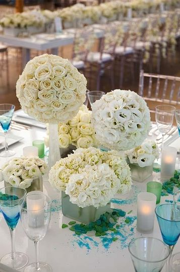 Beach Themed Wedding Reception