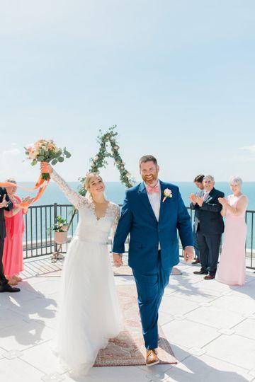 Rooftop elopement