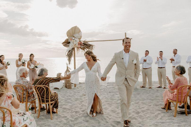 Captiva Beach ceremony