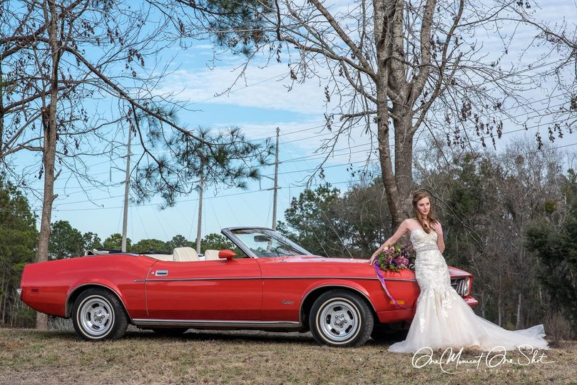 Bride and the car | Photo by One Moment, One Shot