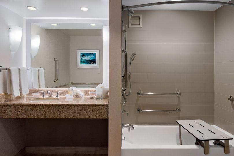 ADA Acessible King Suite Bathroom