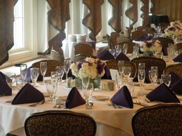 Purple table napkins
