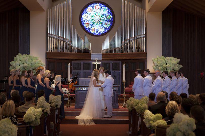 Wedding ceremony at St. James