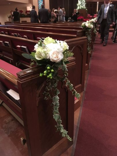 Bridal decor in the church