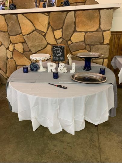 One of the circle tables