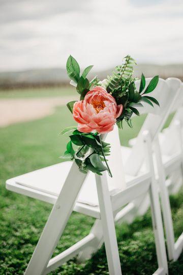 Floral aisle chair decor