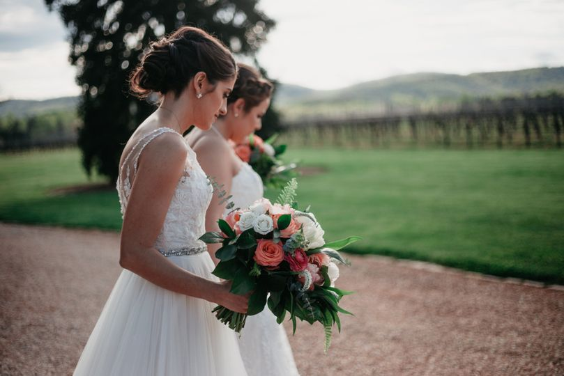 Brides on the pathway