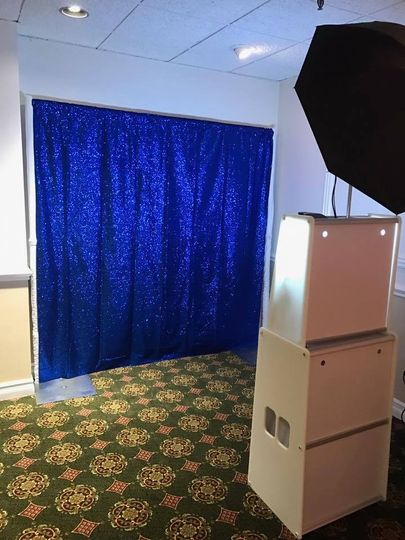Blue Sequin Backdrop