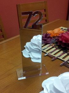 Table number, Mirror Acrylic, Laser Cut