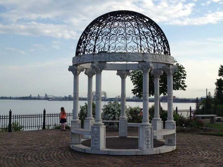 Imagine taking your vows in the gazebo at Duluth's Rose Garden!