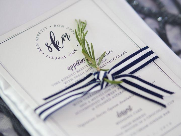 Beautiful paper, ribbon and fresh herb