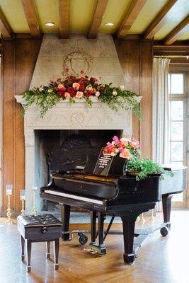 Floral wedding centerpiece