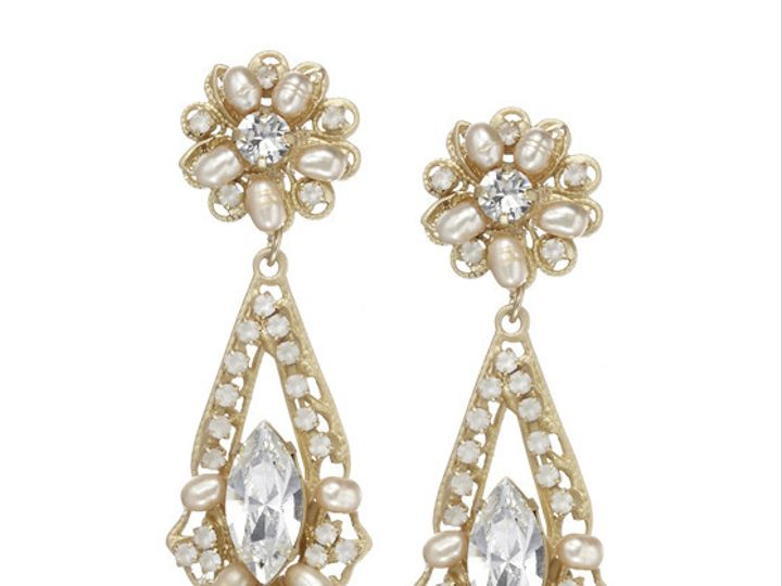 Tmx 1456850259581 Anniedropearring Gold Portland wedding jewelry