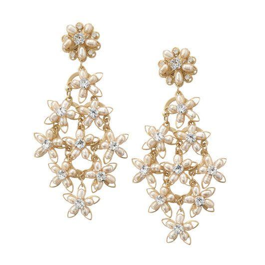 Tmx 1456850273053 Blush Chandelier Gold Earring Insta Portland wedding jewelry