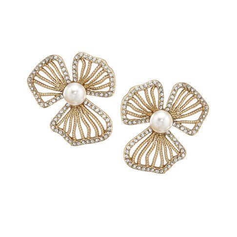 Tmx 1456850398587 Dogwood Stud Gold Pearl Earring Portland wedding jewelry