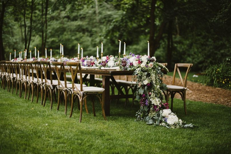 Long rustic tables | Benj haisch photography