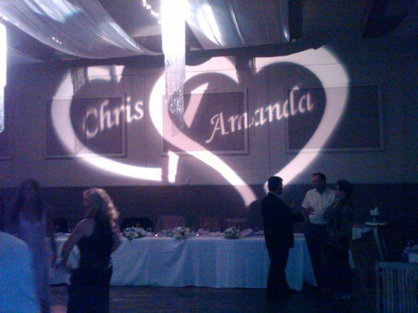 Custom Monogram Projection presented by Desert Music Entertainment DJs and Videography