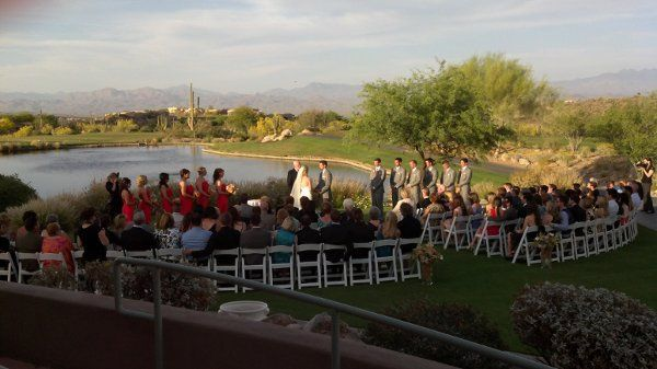Ceremony music provided by Desert Music Entertainment DJs and Videography held at Sunridge Canyon...