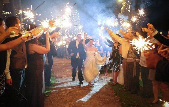 Grand exit to a sparklers shower, sparklers provided by Desert Music Entertainment DJs and...