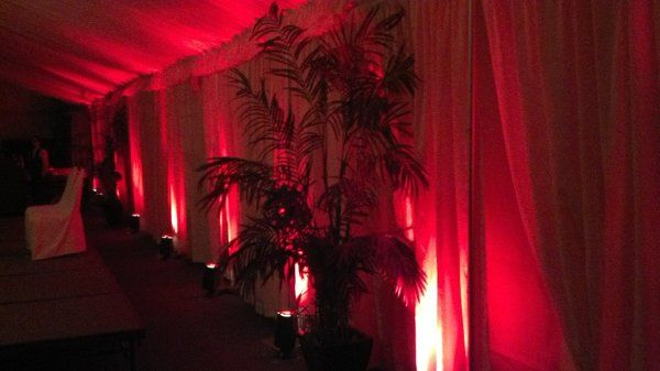 Red accent lighting provided by Desert Music Entertainment DJs and Videography