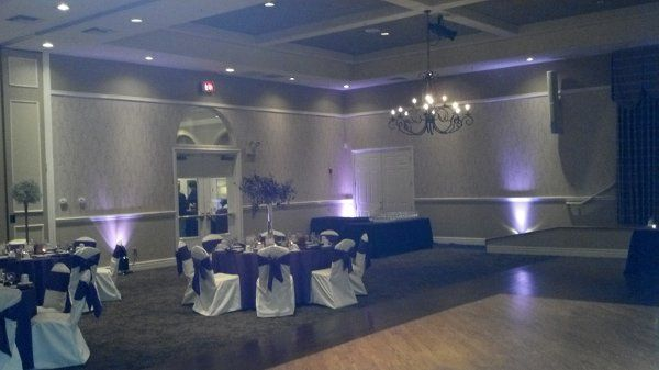 Accent lighting provided by Desert Music Entertainment Wedding DJs and Videography at Oakwood...