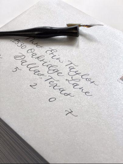 Bridal shower envelope