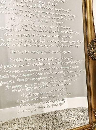 Mirror with first dance lyrics
