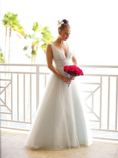 Classic white wedding dress