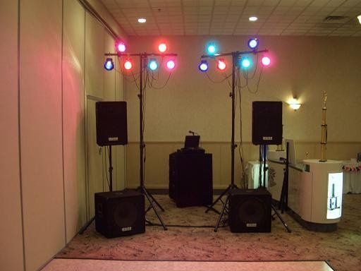 DJ booth and sound system set-up