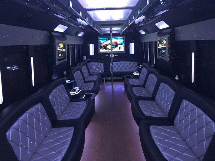 Tmx 5starlimobusrentals 30 Passenger 2016 4 Tiffany Party Bus  51 990653 Plainfield wedding transportation
