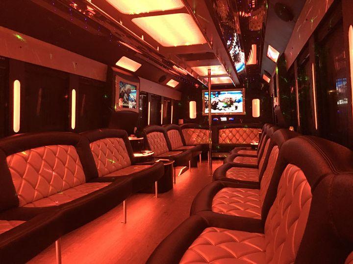 Tmx 5starlimobusrentals 30 Passenger 2016 Tiffany Party Bus  51 990653 Plainfield wedding transportation