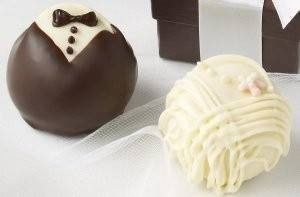 These delectable Fudge Love truffles decorated as the guests of honor are unique and tasty!