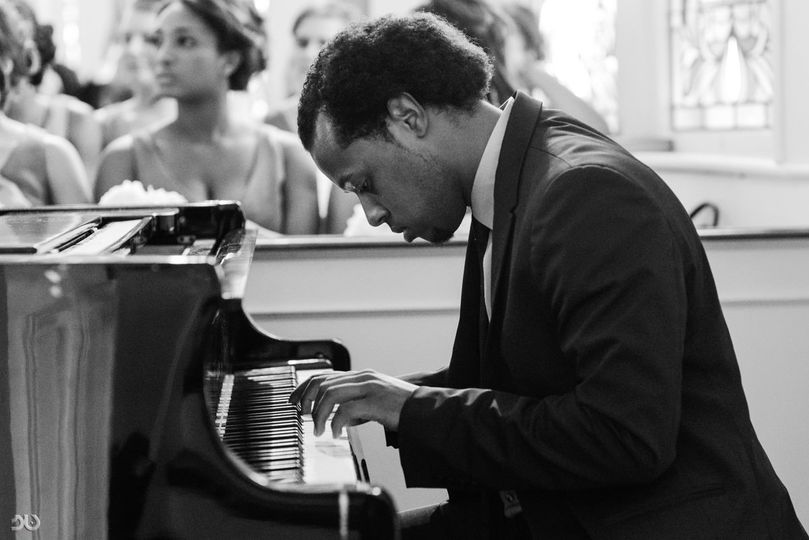 Assel Jean-Pierre at his piano