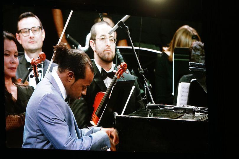 Performing piano