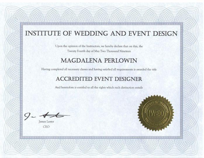 IWED Certificate
