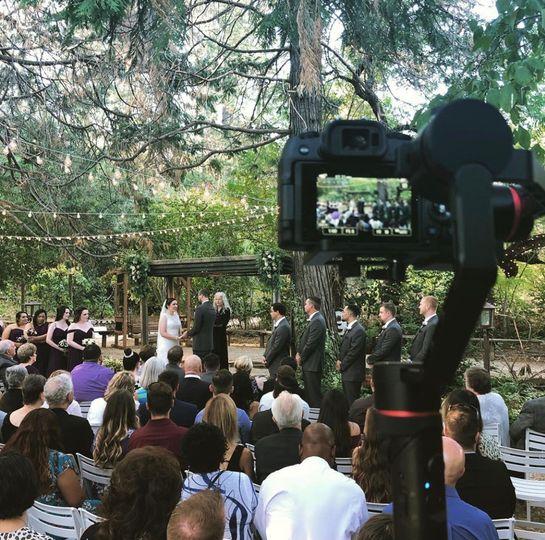 Recording the wedding ceremony