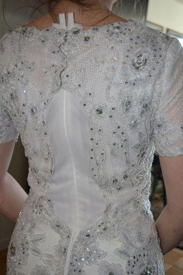Vintage dress restoration