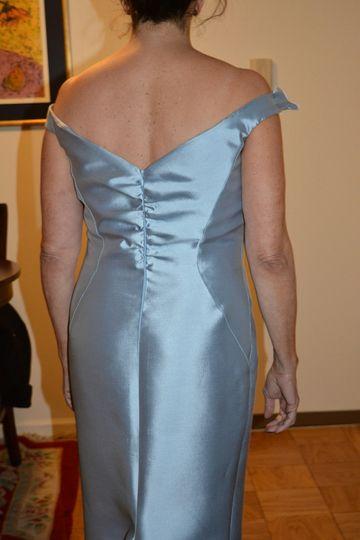 Custom mother of bride dress