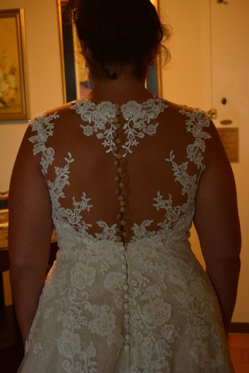 Wedding dress resizing