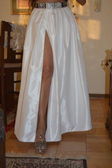 Custom made white skirt