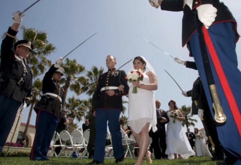 Military themed weddings