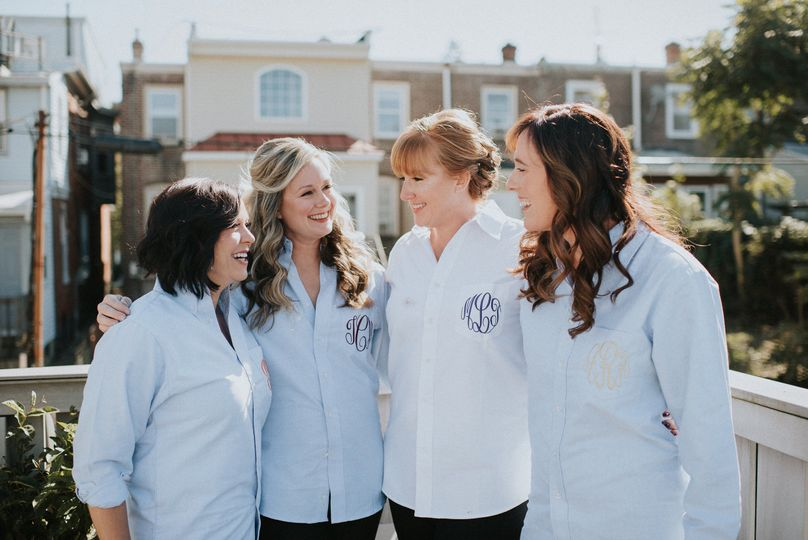 Enjoy our outside deck!  Bride and Bridal Party Hairstyling - Make your wedding day preparations an...