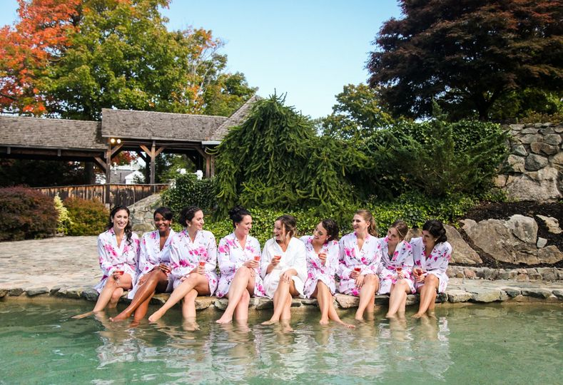 Bridesmaids by Pool