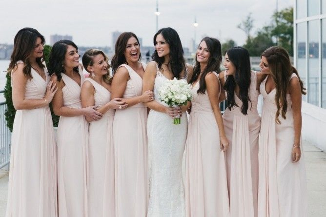 Blow outs, lashes and love for this bridal party